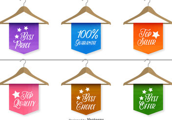 Best sale and quality labels - Free vector #199275