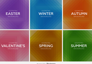 Seasons backgrounds - vector gratuit #199285