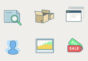 Vector Shop Icon Set - vector gratuit #199315