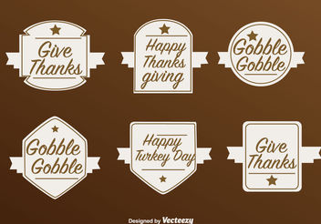 Happy Thanksgiving Vector Labels - vector #199335 gratis