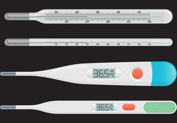 Medical Thermometer Vectors - vector gratuit #199385