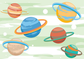 Saturn Planet Vectors - vector #199415 gratis