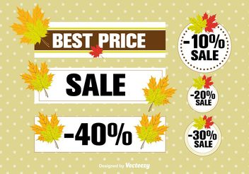 Autumn sale labels - Free vector #199425