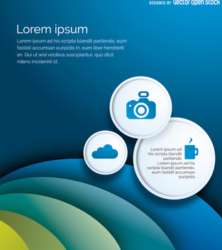 Brochure or flyer template - vector #199665 gratis