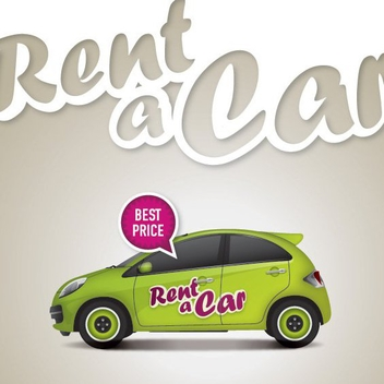 Rent A Car Poster - vector gratuit #199715