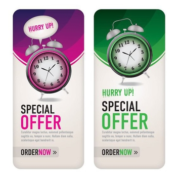 Two Special Offer Banners - vector gratuit #199725