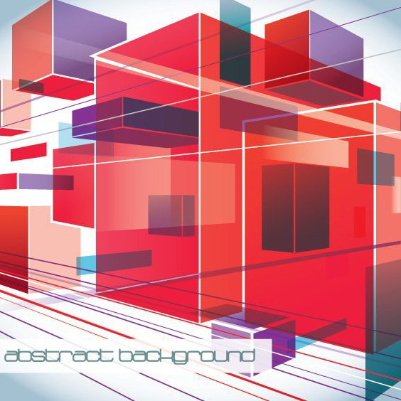 Fluorescent Squares Perspective Background - Free vector #199765