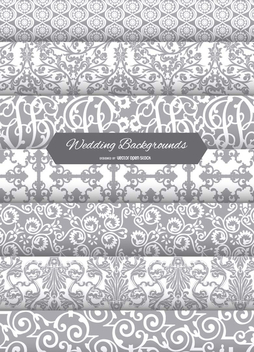 7 wedding backgrounds - Free vector #199805
