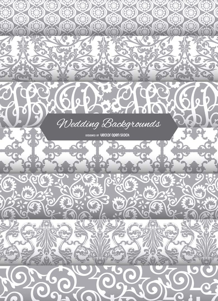 7 wedding backgrounds - vector #199805 gratis