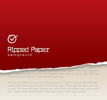 Red Ripped Paper Background - vector gratuit #199815