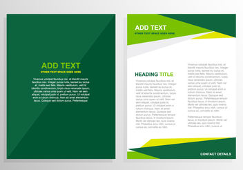 Green brochure template design - Free vector #199845