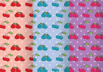 Fruits Girly Pattern Vectors - бесплатный vector #199885