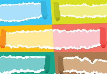 Color Ripped Paper Vectors - vector #199895 gratis