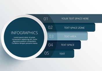 Modern vector circle infographic elements - бесплатный vector #199965