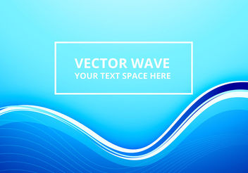 Abstract light blue line wave - vector gratuit #199975