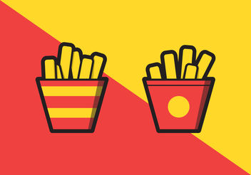 French Fries Illustration - Free vector #200015