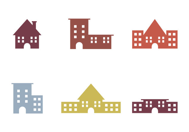 Free Townhomes Vector Icons - Free vector #200195