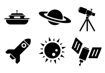 Space Vector Icons - Kostenloses vector #200275