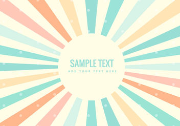 Colorful retro rays background - vector #200305 gratis