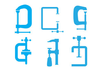 C Clamp Vectors - Free vector #200385