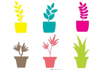 Colorful Planter Vectors - Free vector #200415
