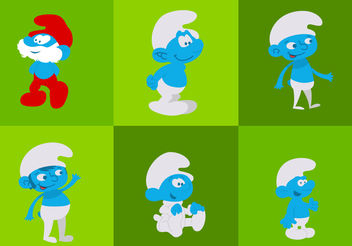 Smurfs - Free vector #200435