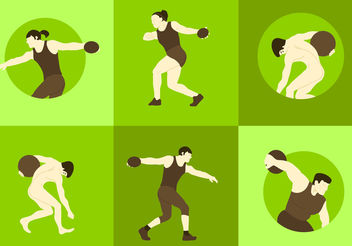 Discus Thrower Vectors - vector gratuit #200465