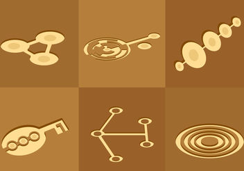 Crop Circles - Free vector #200485