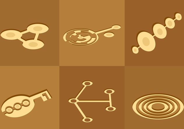 Crop Circles - vector gratuit #200485