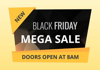 Black friday sale vector - vector gratuit #200555