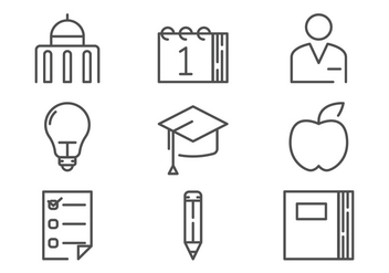 Campus Icon Outline Vectors - vector gratuit #200605