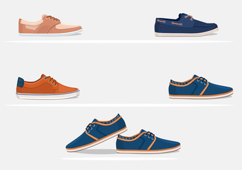 Mens Hipster Shoes Vectors - vector #200625 gratis