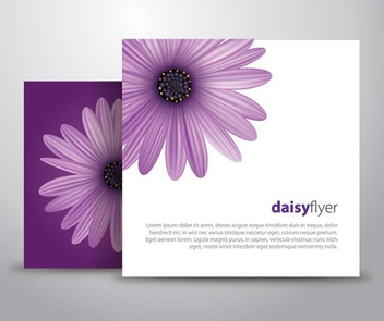 Purple Daisy Flyer Design - vector gratuit #200655