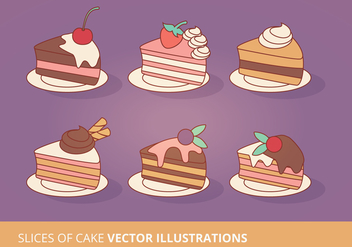 Cake Slices Vector Collection - Free vector #200845