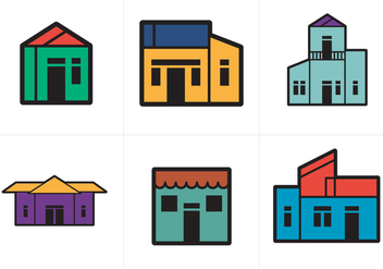 Free Town Homes Vector - vector gratuit #200885