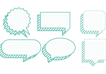 Set of chat bubbles - vector #200895 gratis