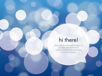 Hi There Message Bokeh Background - Free vector #200915