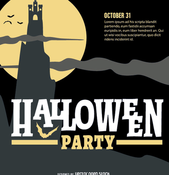 Halloween Party Retro Design - vector gratuit #200925