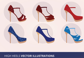 Shoe Collection Vector Illustration - Free vector #201235
