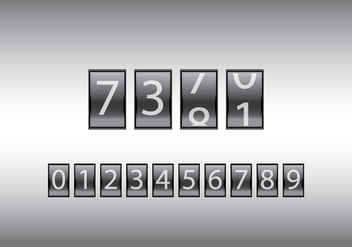 Free Number Counter Vector Illustration - бесплатный vector #201245