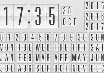 Vector Calendar Counter - Free vector #201255