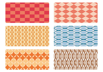 Mid century pattern vector set - бесплатный vector #201275