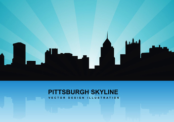 Pittsburgh skyline vector - vector gratuit #201315