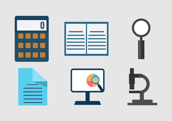 Market research business icons - Free vector #201335