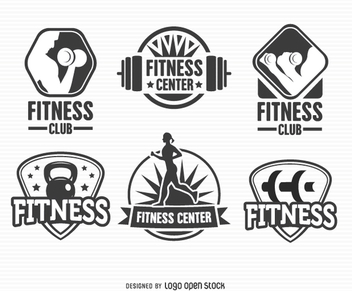 Fitness Label Badge Logo Set - vector gratuit #201415