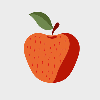 Cute Free Vector Apple - Free vector #201795