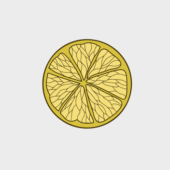 Free Vector Lemon Slice - Kostenloses vector #201935