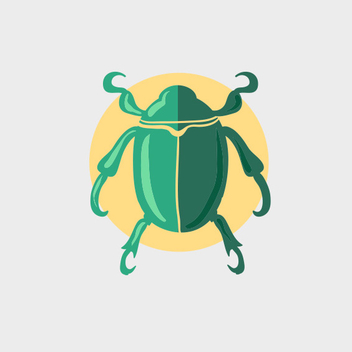 Free Vector Green Beetle - vector gratuit #201945