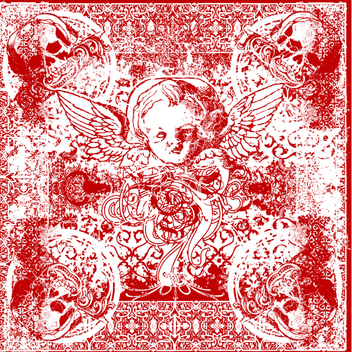 Free Vector Wicked Cherub Bandana - Free vector #201975