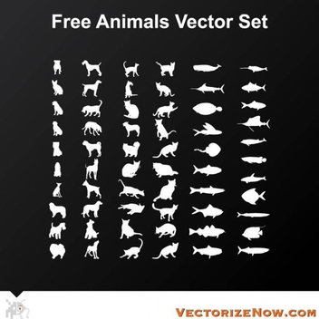 Animal Vector Set - vector #202175 gratis